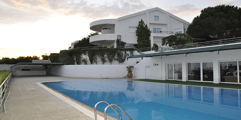 Residential Property House for Sale in Greece - Photos of the property swimming pool and house in the back