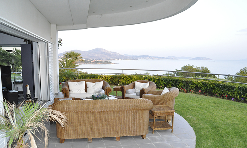 Residential Property House for Sale in Greece - View of the sea from the gallery